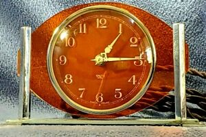 Vintage Art Deco V Rare Smith Sectric Electric Acrylic Clock Made In England