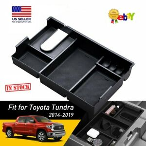 Toyota Tundra 2014 2019 Center Console Organizer Armrest Tray With Nonslip Mats