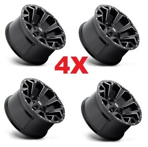 20 Fuel Assault Black Wheels Rims 20x10 Tundra Ram Sequoia Xd