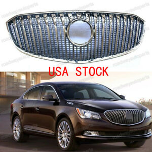 Chrome Front Upper Bumper Grill Grille Replacement For 2014 2016 Buick Lacrosse