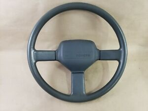 1988 1992 Toyota Corolla Ae92 Gts Sr5 Steering Wheel Gray 3 Spoke Sport 88 92