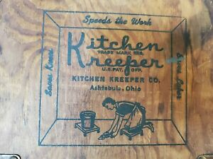 Country Kitchen Store Advertising Wall Hanger Wash Bucket Tool Graphic Sign Vtg