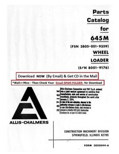 Allis Chalmers Wheel Loader 645m Service Parts Manual 3055044