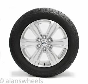 4 New Takeoff Ford F150 Platinum 20 Factory Oem Polished Wheels Rims Tires