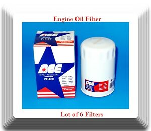 6 X Eng Oil Filter Ph400 Ace Made In Usa Fits Chrysler Ford Mazda Jeep 1981 2015
