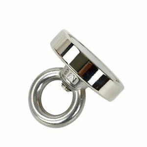 Fishing Magnet 350 Lbs Super Strong Neodymium Round Thick Eye Bolt 2 36 Inch