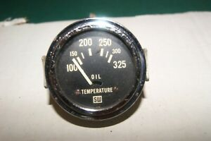 Stewart Warner Vintage Gauge 2 1 16 Electric 12 Volt Oil Temperature Sw 14