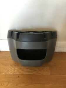 03 14 Ford E150 Gray Front Hood Trim Panel Floor Storage Console Cupholder