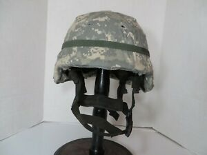 US Army PASGT helmet modified for ACH pads ACU cover size large $159.95
