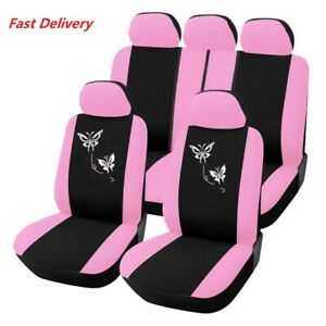 Women S Car Seat Cover Car Accessories Car Seat Cover Front And Rear Pink