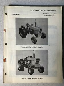 Vintage Case 1170 Tractor Parts Catalog A1140 Agri king