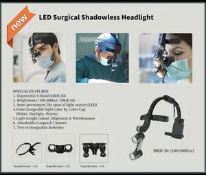 Dr Kim Led Surgical Headlight Including Case 2 Batteries 1 5x Loupe