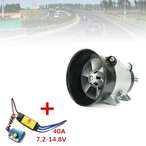 Car Electric Turbine Turbo Charger Boost Air Intake Fan Brushless 40a 380w 12v