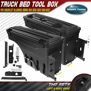 Left Right Truck Bed Storage Box Toolbox For Chevy Silverado Gmc Sierra 99 07