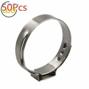 New 50pcs 1 Pex Stainless Steel Clamp Cinch Ring Crimp Pinch Fitting Tubing