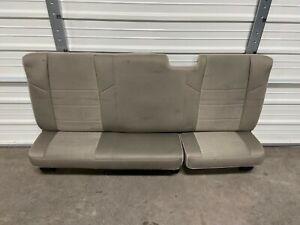 2008 2016 Ford F250 F350 F450 Extended Cab Rear Seat Stone Gray Cloth