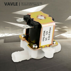 12v Od12mm Electromagnetic Valve Normally Closed Water Inlet Flow Switch Plastic