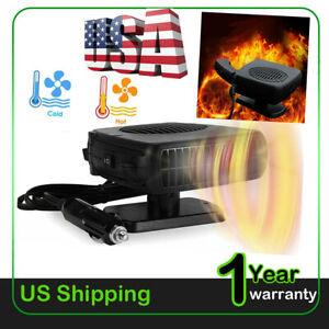 150w Portable Ceramic Car Heater 12v Dc Vehicle Heating Cooling Fan Us 2021