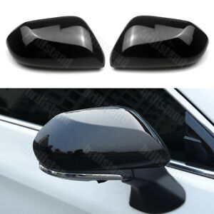 For Toyota Camry 2018 2020 Black Rearview Side Wing Mirror Cap Cover Trim