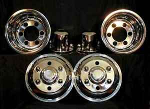 Chevy Gmc W3500 W4500 Wheel Simulators 16 6 Lug Cabover Bolt On Stainless Dualy