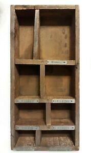 Sectioned Wood Drawer With Metal Labels Auto Parts Drawer