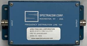 Spectracom Corp 8140t10 Frequency Distribution Line Tap Freq Input Output Box