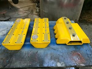 Small Block Chevrolet Valve Covers Sbc Chevy Gennie Shifter 16 Valve