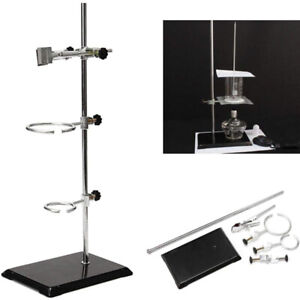 50cm Iron Lab Support Stands Platform Ring Clamp For Supporting Lab Tube Flask