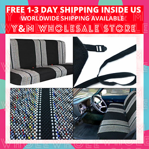 Truck Pickup Suv Car Saddle Blanket Bench Seat Cover Chevrolet Dodge Ford Black