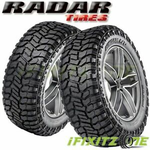 2 Radar Renegade R T Lt285 50r22 121 118q E Tires M S All Terrain Mud Truck