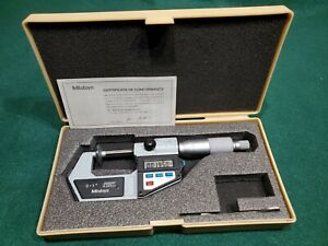 Mitutoyo No 323 711 10 0 1 Electronic Disc Micrometer In Case Excellent