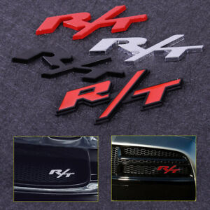 1x Brand New R And T Grill Badge Or Trunk Badge 3d Metal Emblem
