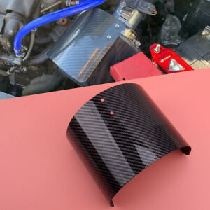 Car Carbon Fiber Style Cold Air Intake Filter Cone Cover Heat Shield Universal