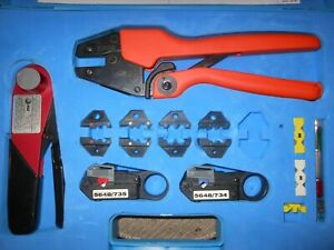 Bnc Coax Crimper Kit R 5761 5648d2 Crimpers With Dies Strippers