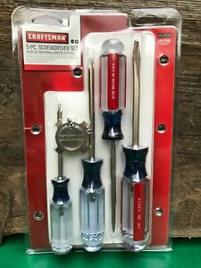 New Craftsman 5 Pc Phillips Slotted Flathead Screwdriver Set Made In Usa 41809