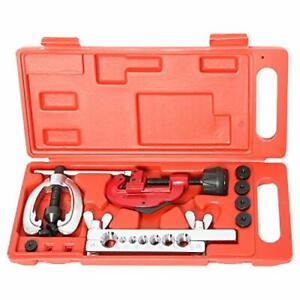 Auto Double Flaring Copper Aluminum Steel Brake Line And Brass Tubing Tool Kit