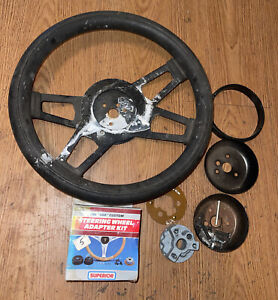 Vintage Grant Steering Wheel With Superior Adapter Kit Accessories Chevy Gmc