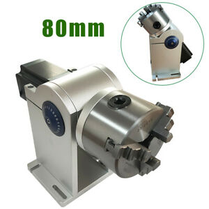 80mm Rotating Axis Rotary Chuck For Laser Marking Welding Engraving Steel