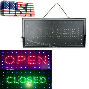 usa 2018 Led 2in1 Open closed Store Shop Business Sign 9 8 20 47 Display Neon