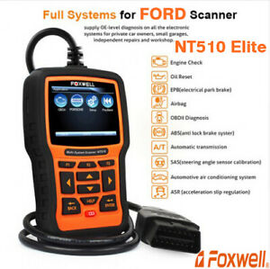 Foxwell Nt510 Elite For Ford All System Abs Srs Dpf Tpms Obd2 Diagnostic Scanner