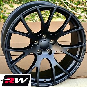 4 20 Inch 20x9 For Dodge Ram Hellcat Style Wheels Satin Black Rims