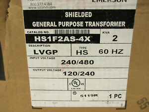 Hevi duty Hs1f2as 4x Stainless Steel 2 Kva 1 Phase Transformer 480x240 120 240
