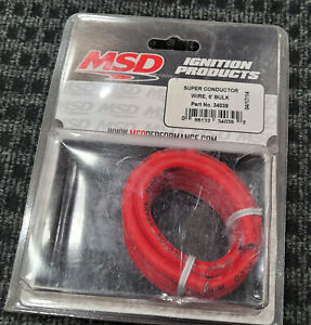 Msd Ignition 34039 Red 6 Ft Length 8 5mm Super Conductor Spark Plug Wire Roll