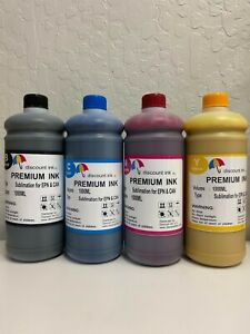 4x1000ml Sublimation Refill Ink Compatible All Epson Cartridges 7720 7710 2720