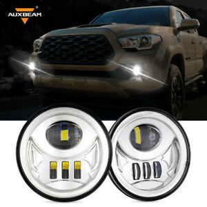 Auxbeam Chrome Front Bumper Led Fog Lights Driving Lamps For Tacoma 2005 2011