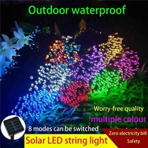 39ft Outdoor String Lights Patio Party Yard Garden Wedding 100led Solar Powered