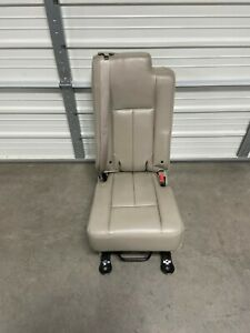2003 2017 Navigator Ford Expedition Second 2nd Row Middle Jump Seat Stone Lthr