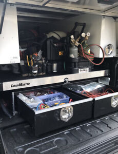 A R E Black Aluminum Truck Cap And Load Master Bed Slide And Drawer System