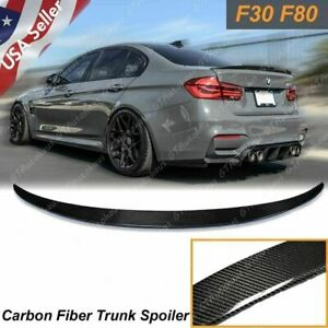 For Bmw F30 F80 M3 Sedan Carbon Fiber Boot M Performance Trunk Lid Spoiler Wing