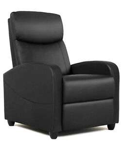Recliner Chair Pu Leather Recliner Sofa Adjustable Modern Single Reclining Chair